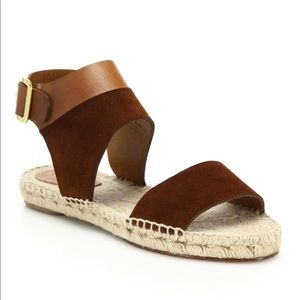 Chloe Tuscan leather suede espadrilles sandals